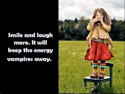 Smile and laugh more.