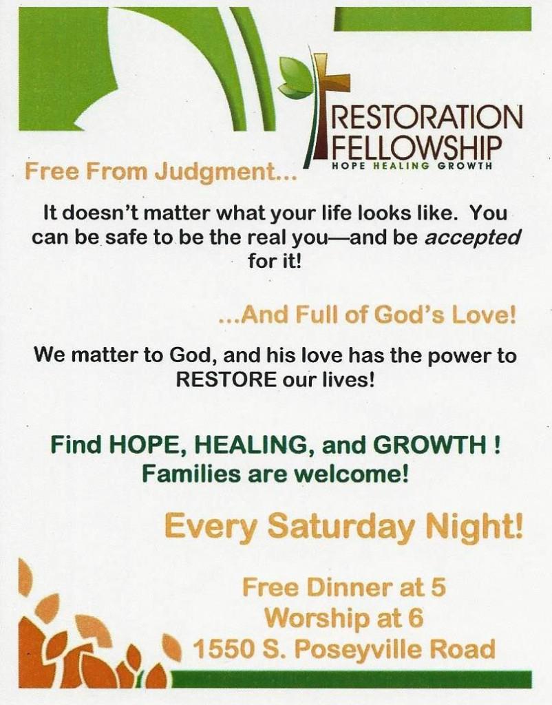Restoration Fellowship Ad